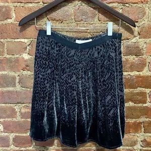 Charlotte Ronson burnout velvet skirt silver/grey